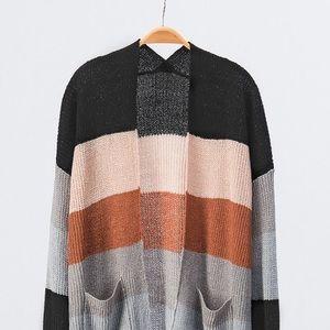 debut Sweaters - Multi Color-Block Cardigan Sweater 9041b85ff